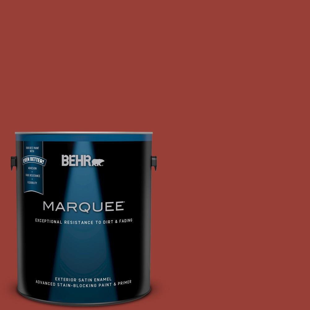 Behr Marquee 1 Gal S H 190 Antique Red Satin Enamel Exterior Paint