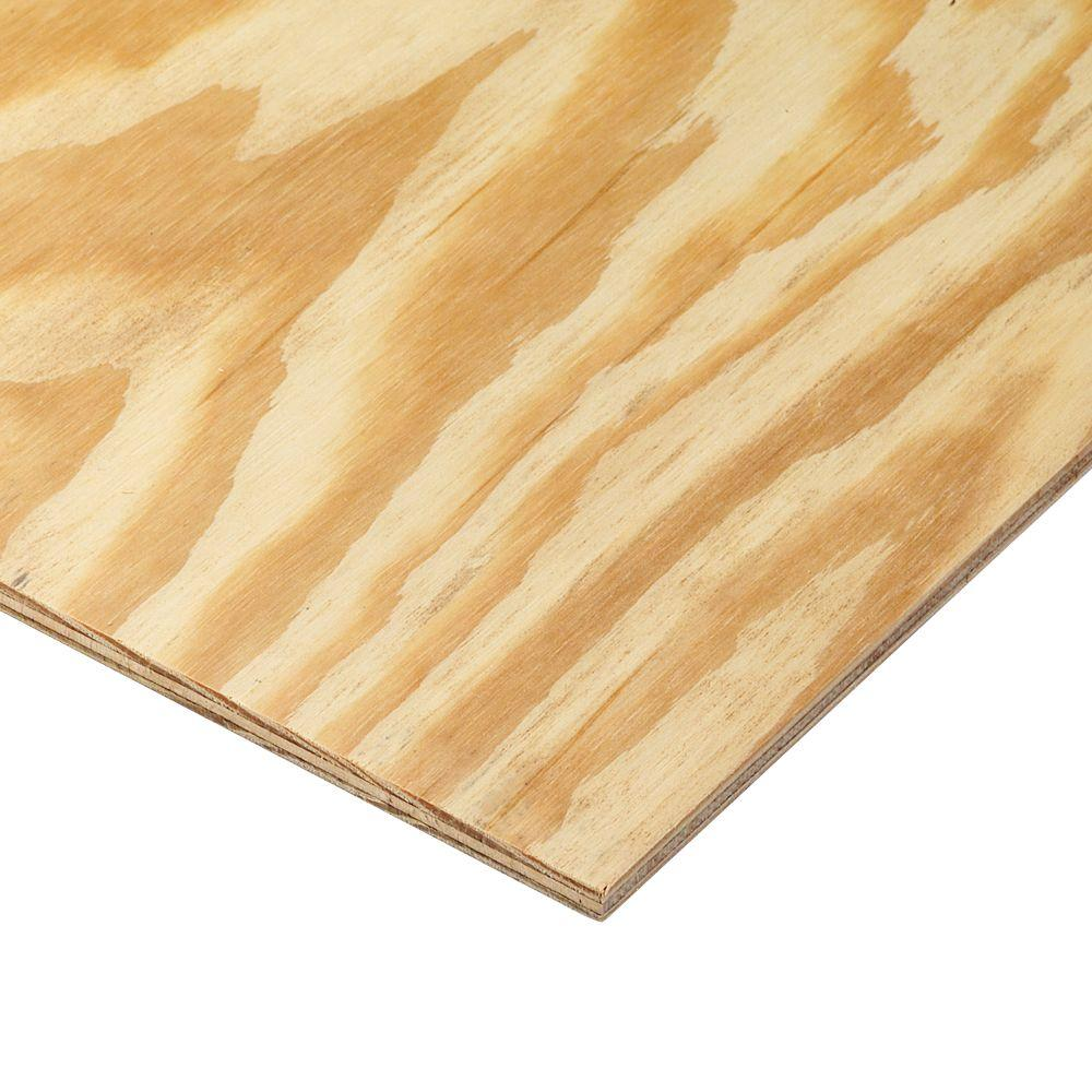 15/32 in. x 4 ft. x 8 ft. 3-Ply RTD Sheathing-166073 - The Home Depot