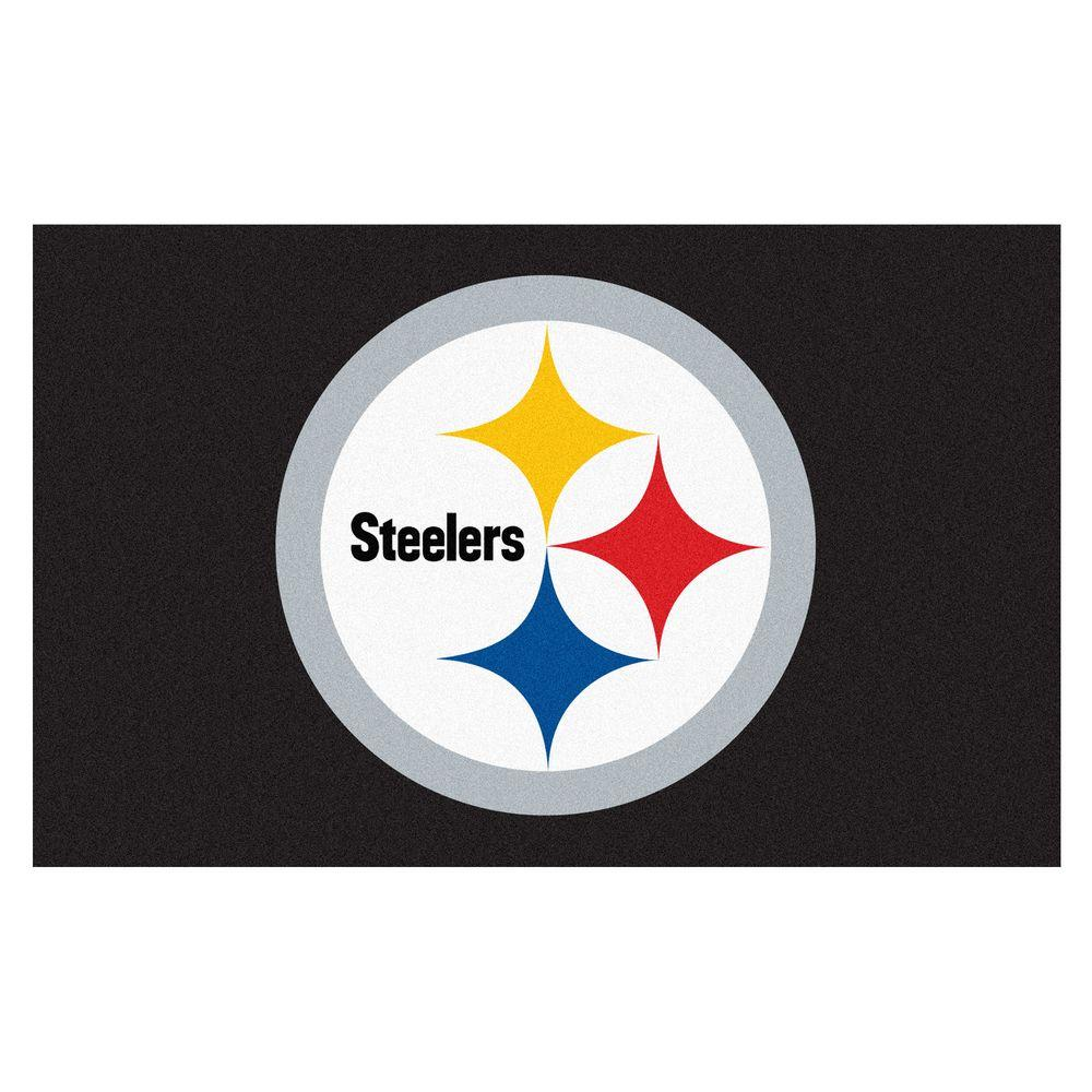 FANMATS Pittsburgh Steelers 5 ft. x 8 ft. Ulti-Mat