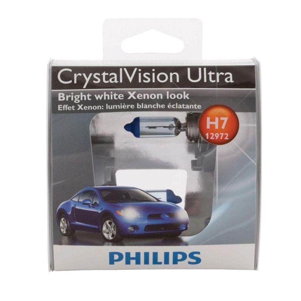 Philips CrystalVision Ultra 12972/H7 Headlight Bulb (2-Pack)