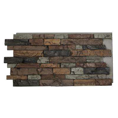 Snodonia Faux Stone Panel 1-1/4 in. x 48 in. x 24 in. Canyon Gray Polyurethane Interlocking Panel