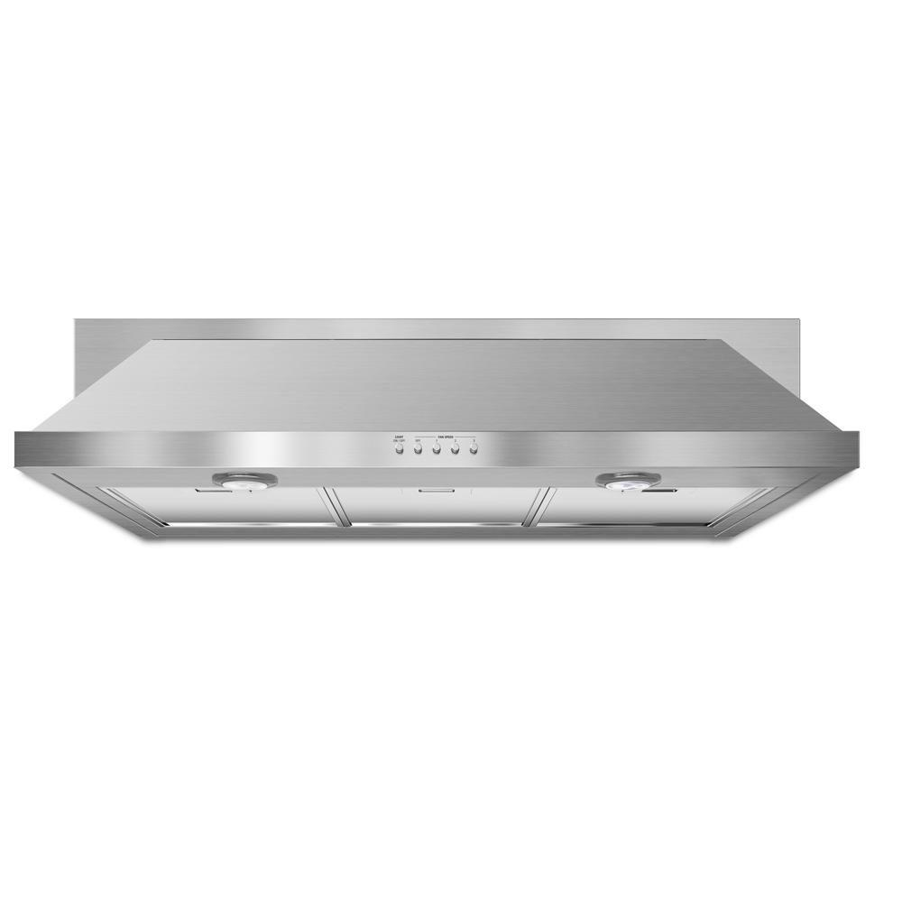 36 in. Convertible Under Cabinet Range Hood with Light in Stainless