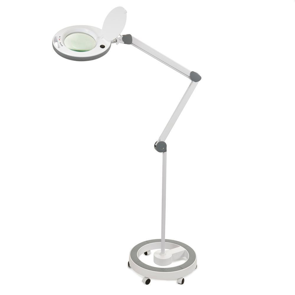 5 ft. LED Professional Roller Base Magnifying Lamp