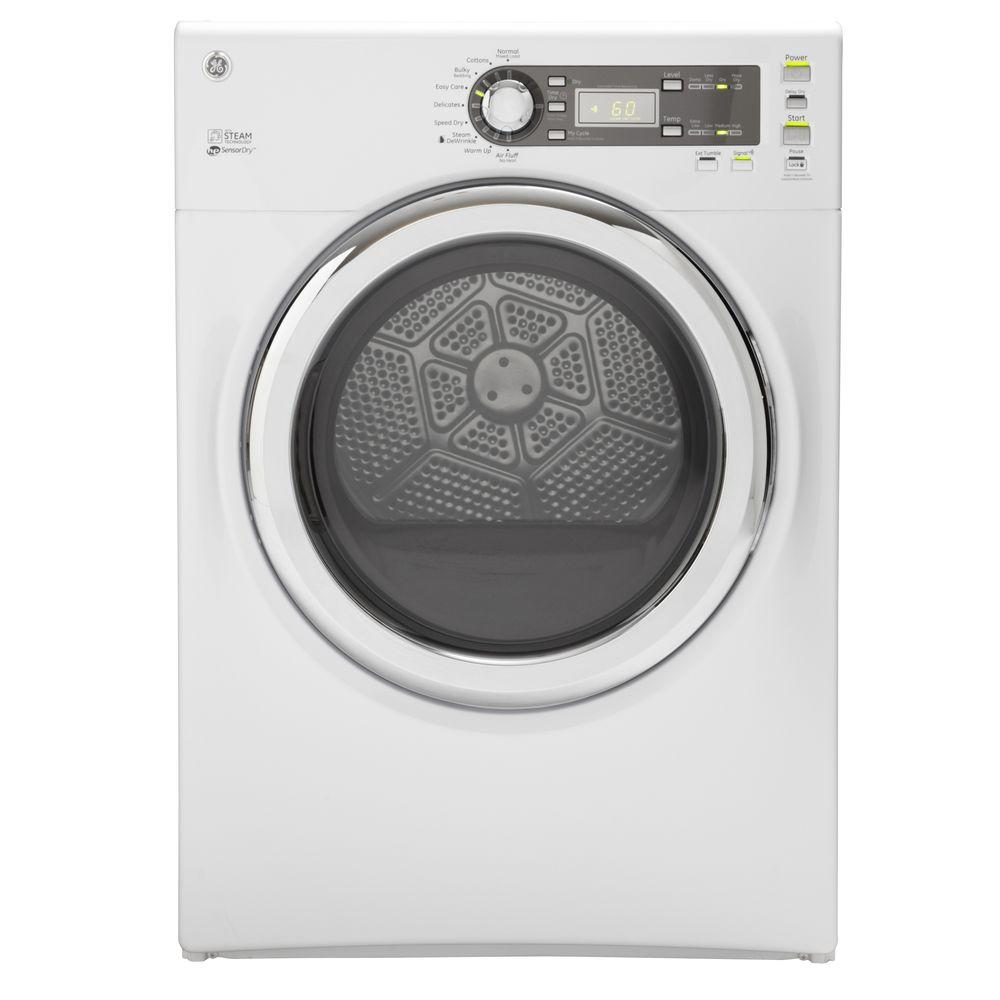 GE 7.0 cu. ft. Gas Dryer with Steam in White