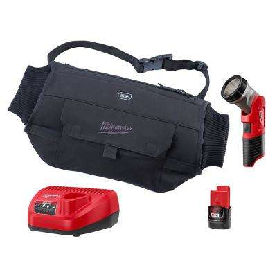 M12 12-Volt Lithium Ion Cordless Black Heated Hand Warmer with LED Work Light Kit