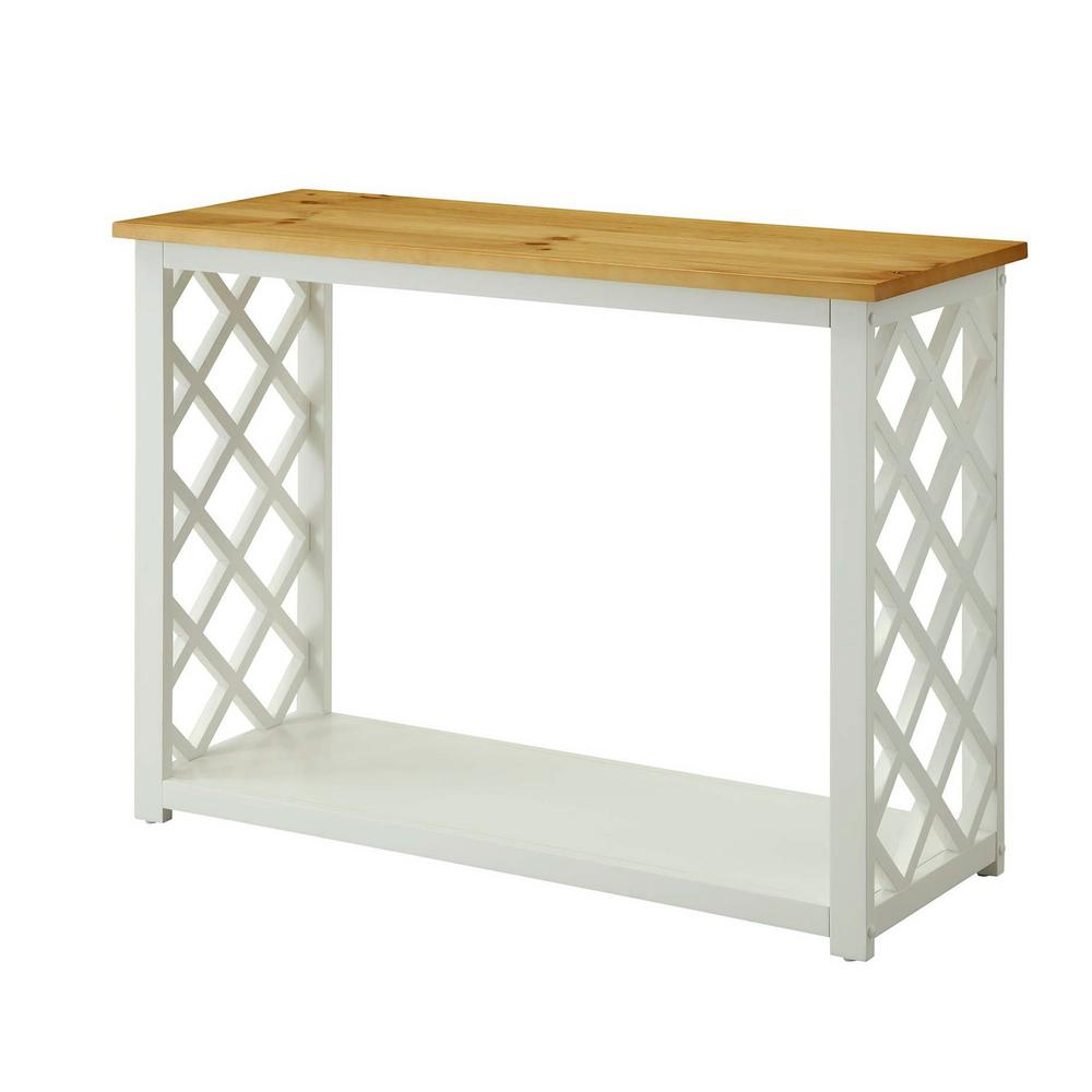 Convenience concepts cape cod white and pine console table 510099 convenience concepts cape cod white and pine console table geotapseo Gallery