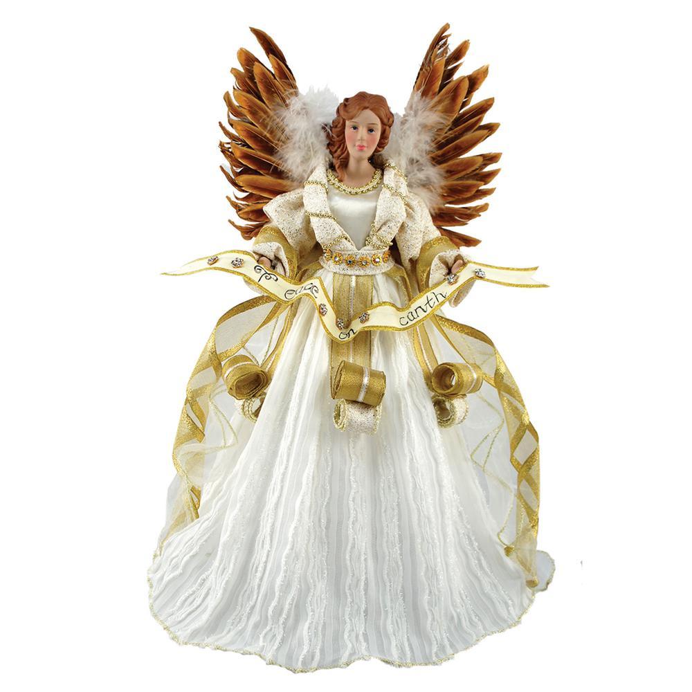 16 in. Peace On Earth Angel Tree Topper