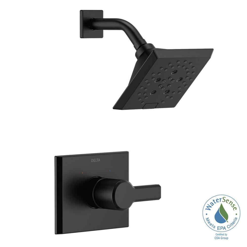 Pivotal 1-Handle Wall-Mount Shower Trim Kit with H2Okinetic Technology in Matte