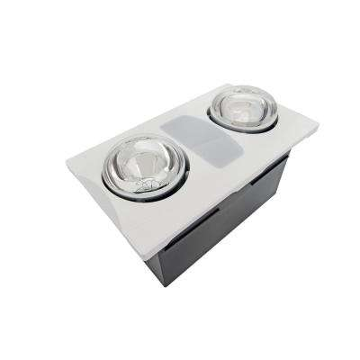Light bulb recessed heater bath fans bathroom exhaust fans 2 bulb 80 cfm ceiling bathroom exhaust fan with light and two 270 watt mozeypictures Gallery