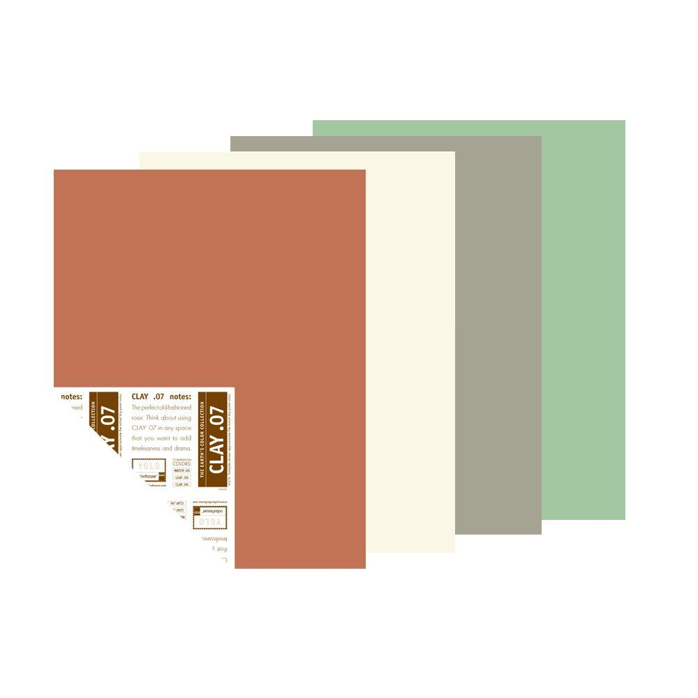 YOLO Colorhouse 12 in. x 16 in. Spring Petals Trend Palette Pre-Painted Big Chip Sample (4-Pack)-DISCONTINUED