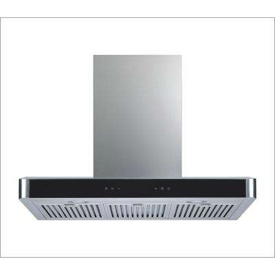 36 in. Convertible Wall Mount Range Hood in Stainless Steel with Baffle Filters, 750 CFM and 5 Speed Touch Control