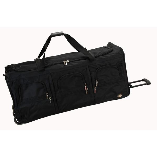 Rockland Voyage 40 in. Rolling Duffle Bag, Black