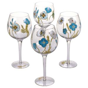 The Greenhouse Handpainted Wine Glass (Set of 4) by