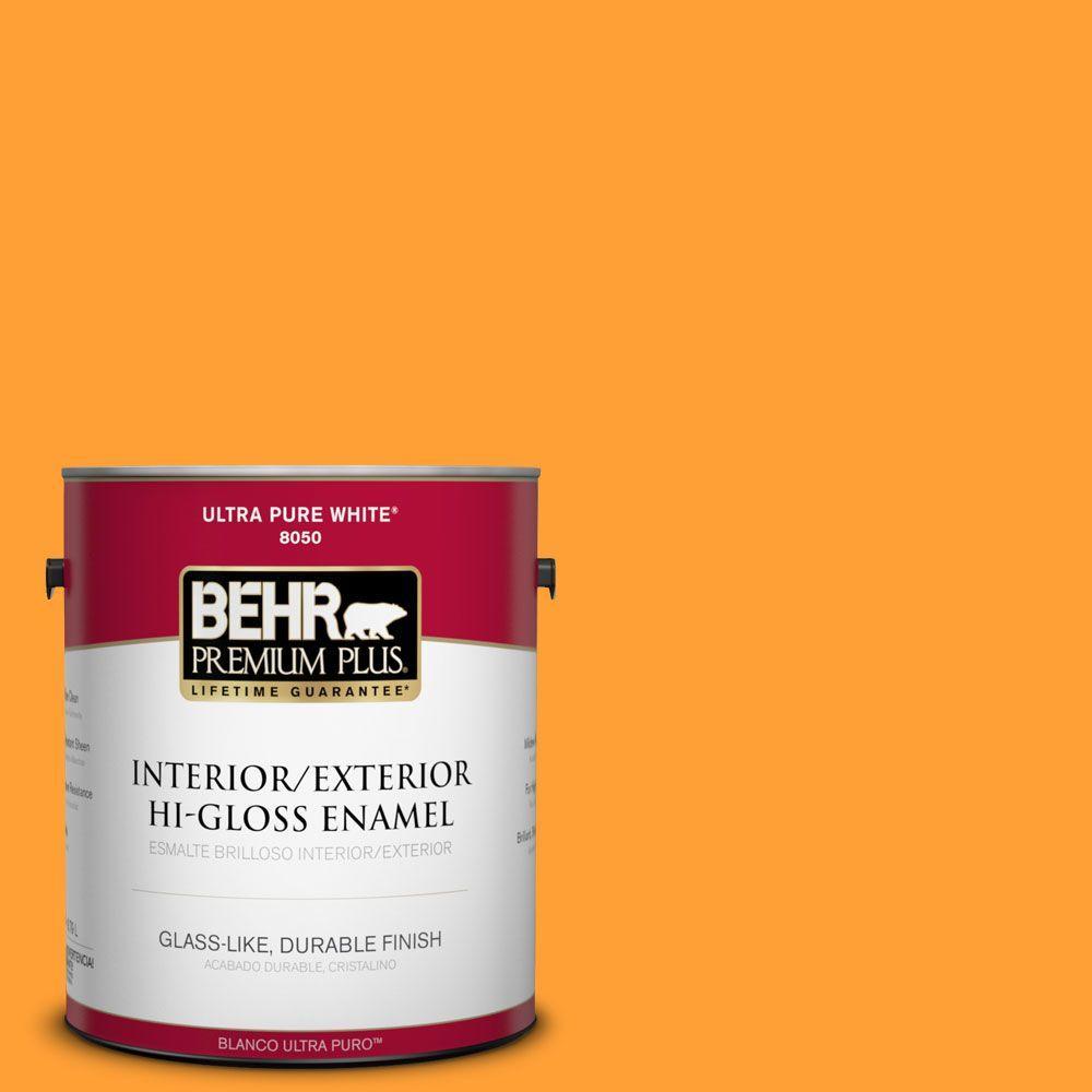 BEHR Premium Plus 1-gal. #P250-7 Blazing Bonfire Hi-Gloss Enamel Interior/Exterior Paint