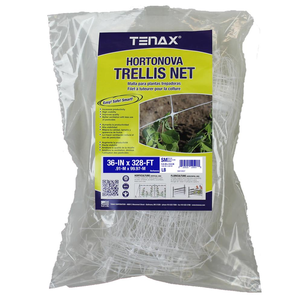 36 in. x 328 ft. White Hortonova Plant Trellis Net