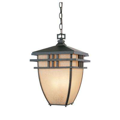 Dayton Aged Bronze 3-Light Patina Outdoor Incandescent Hanging Lantern