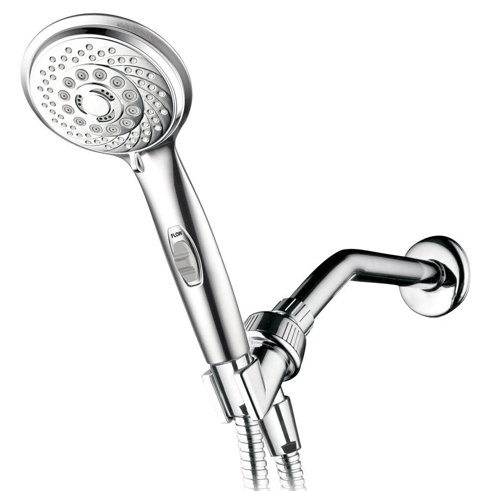 Hotel Spa 7-Spray Settings Hand Shower On/Off Pause Switch, Bonus ...
