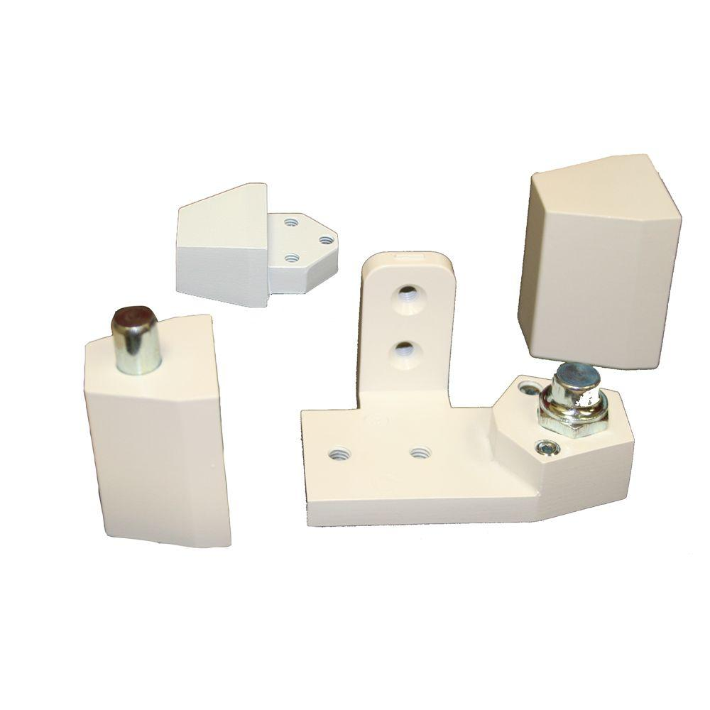 Global Door Controls White Arch/Vistawall Style Right Hand Offset Pivot