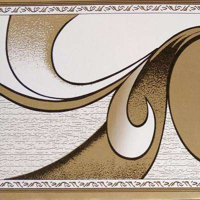 Falkirk Peel-and-Stick Abstract Brown Scrolls Self-Adhesive Wallpaper Border