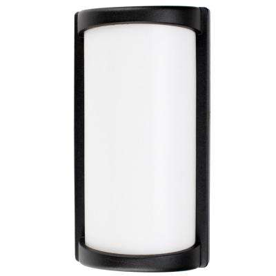 Wall Mount Light 7-Watt Black Outdoor Integrated LED Lantern