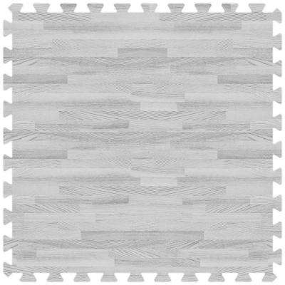 Grey 24 in. x 24 in. Comfortable Wood Grain Mat (100 sq.ft. / Case)