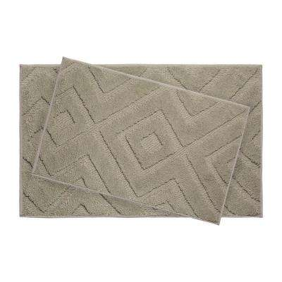 Lilah Linen 21 in. x 34 in. 2-Piece Bath Mat Set