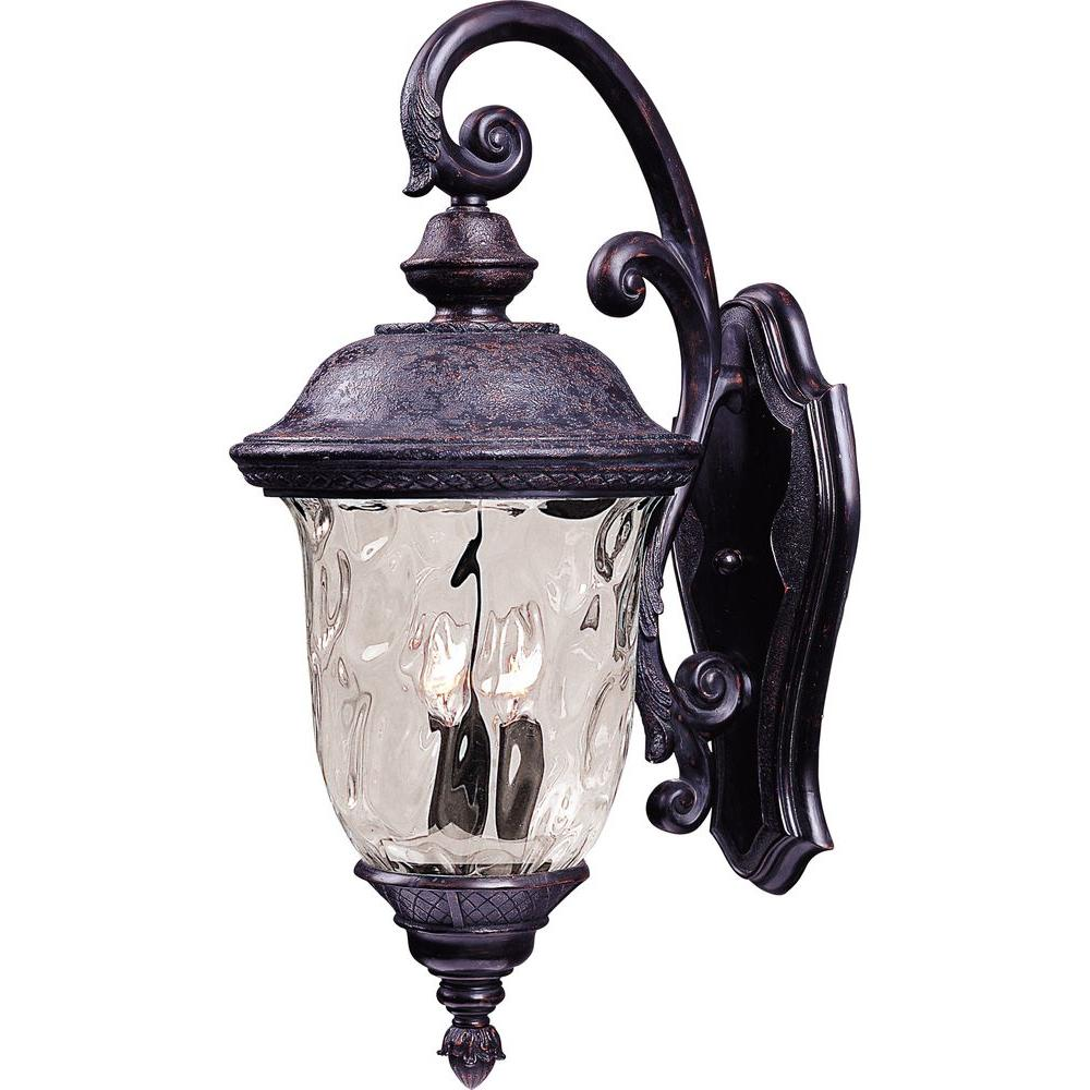 Wall Mounted Carriage Lamps : Maxim Lighting Carriage House DC-Outdoor Wall Mount-3496WGOB - The Home Depot