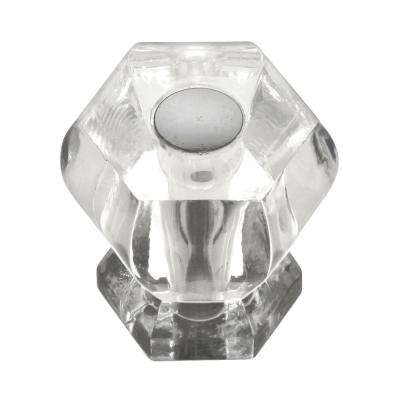 Crystal Palace 1-3/16 in. Crysacrylic with Polished Nickel Acrylic Cabinet Knob