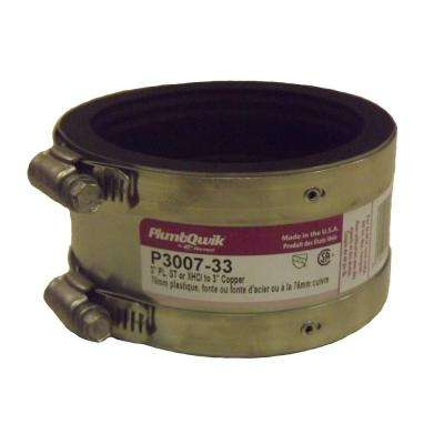 3 in. x 3 in. EPDM Rubber Shielded Coupling