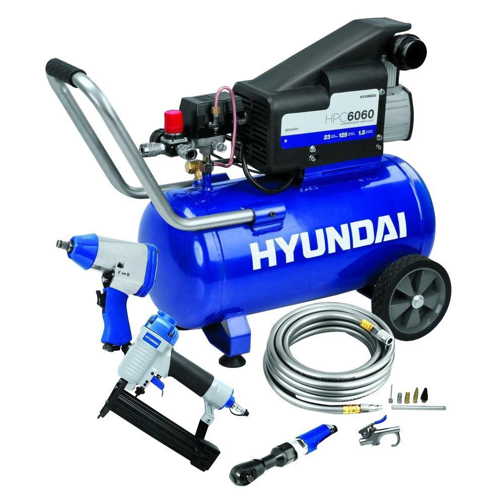 Hyundai 6 gal. Air Compressor Kit