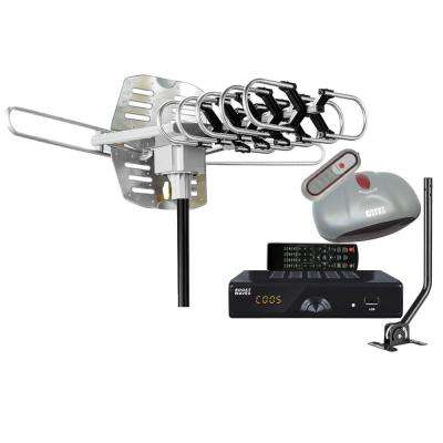 All-in-One Antenna Digital Converter Box DVR Combo and 1080p HDTV HDMI Output, Recording Playback