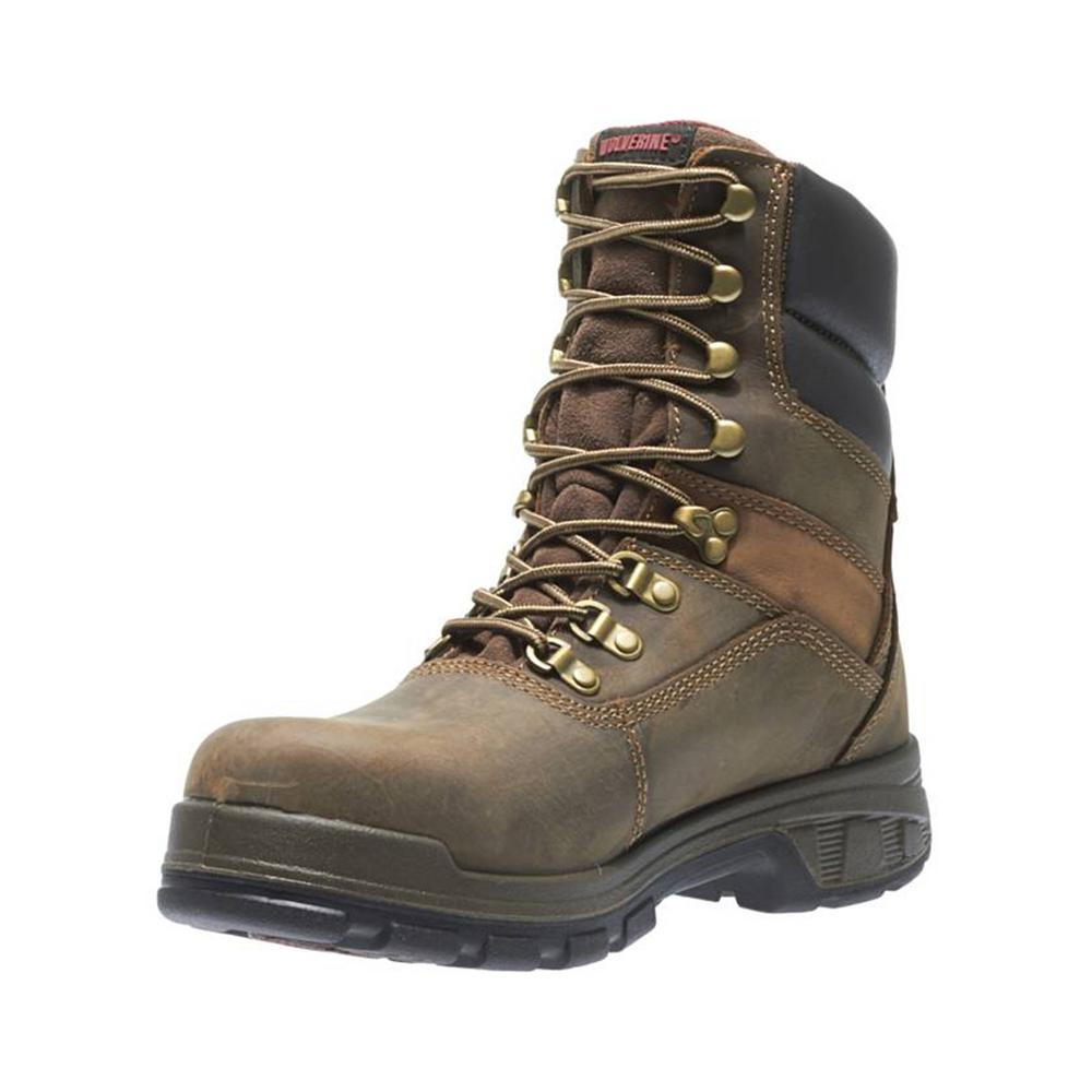 16874a13dc7 Wolverine Men's Cabor Size 9M Dark Brown Nubuck Leather Waterproof  Composite Toe 8 in. Boot