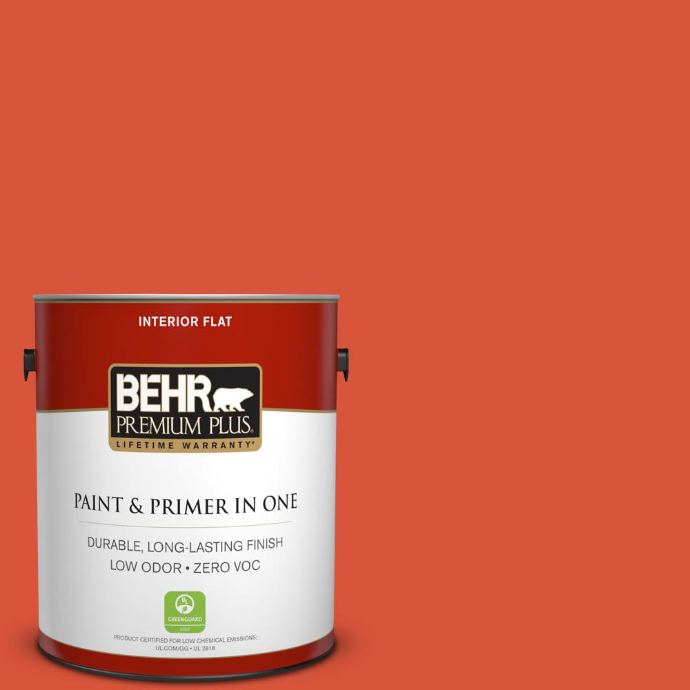 1 gal. #HDC-MD-10G Mod Orange Zero VOC Flat Interior Paint