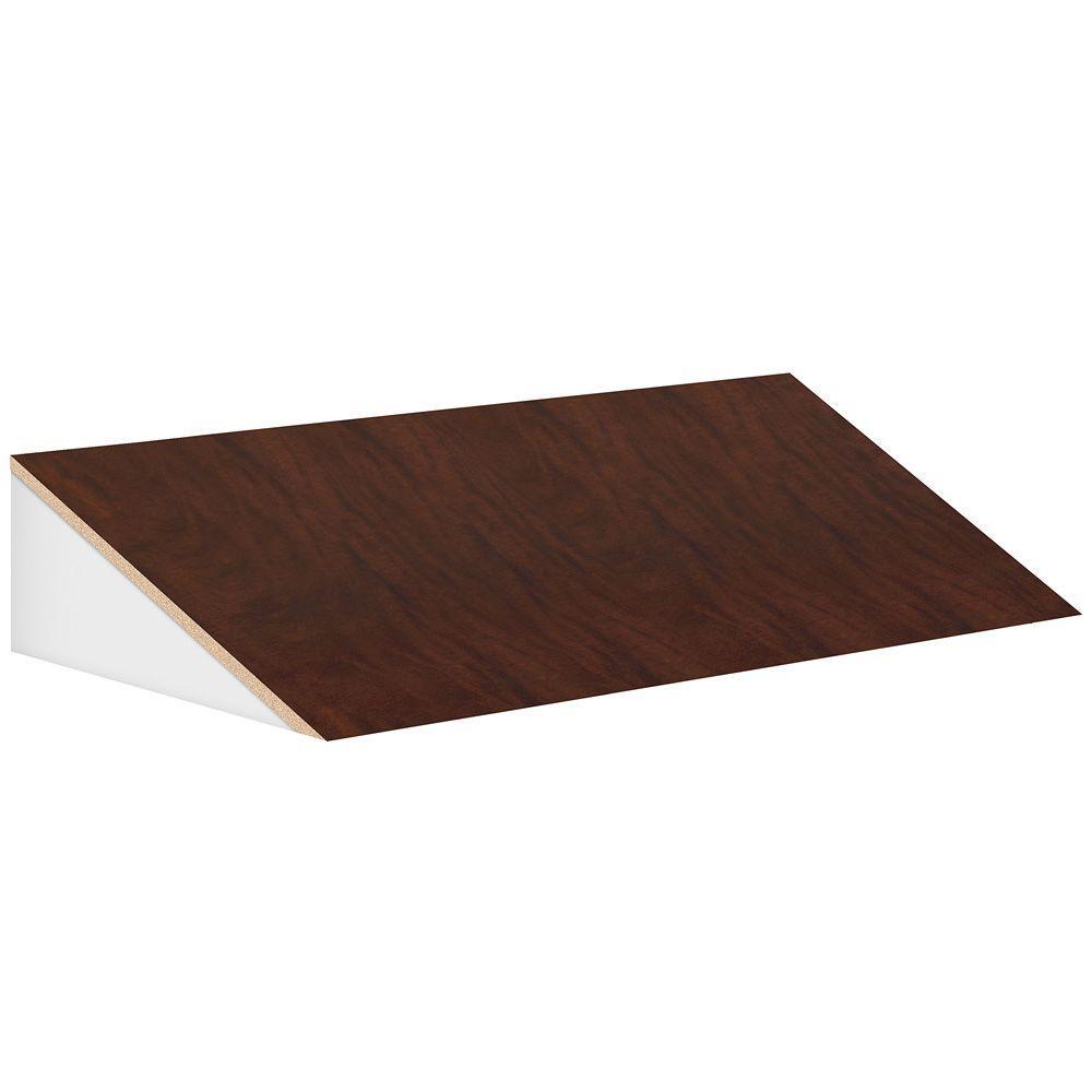 Designer 45 in. W Sloping Hood for 18 in. D Extra Wide Designer Wood Locker in Mahogany (Brown)
