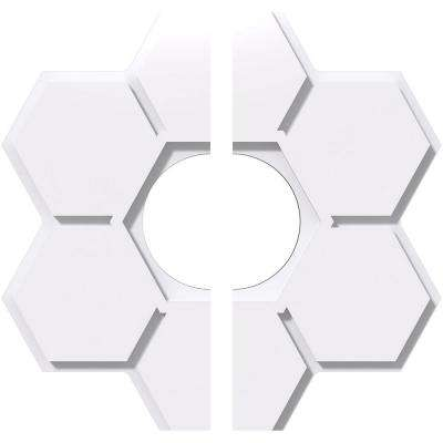 24 in. OD x 7 in. ID x 1 in. P Daisy Architectural Grade PVC Contemporary Ceiling Medallion (2-Piece)