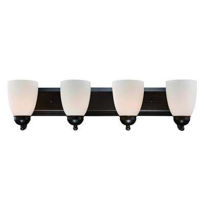 Clayton 4-Light Rubbed Oil Bronze Bath Light