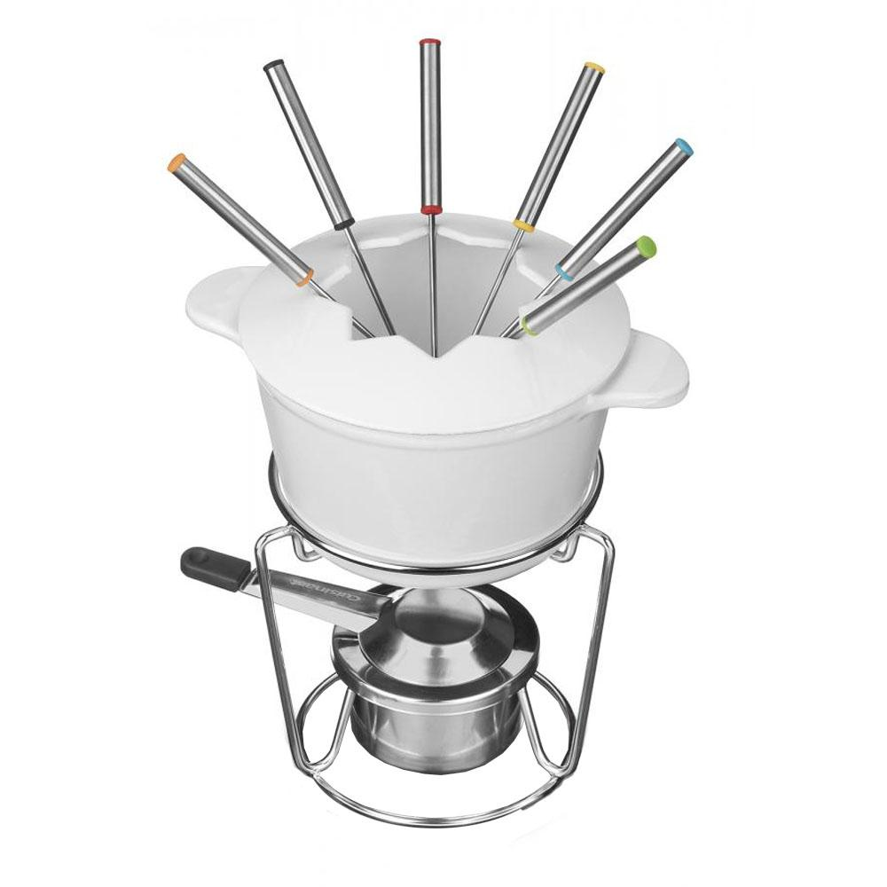 Chef's Classic 13-Piece White Fondue Set