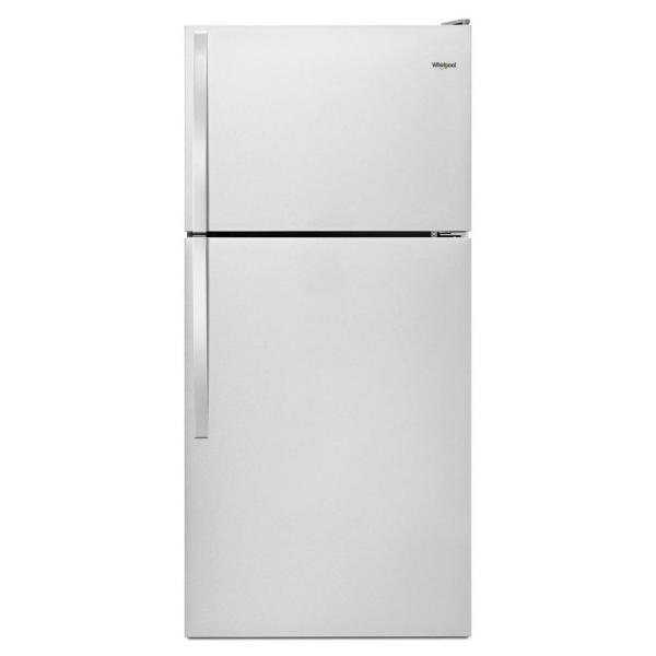 30 in. 18.25 cu. ft. Top Freezer Refrigerator in Monochromatic Stainless Steel