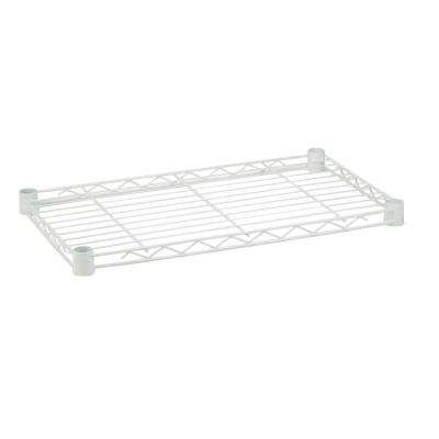 18 in. x 48 in. Steel Shelf in White