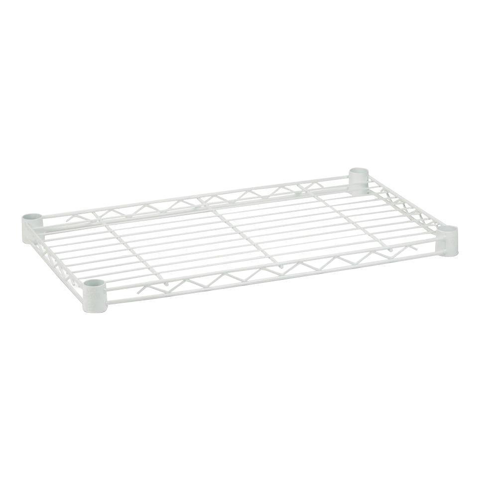 Honey-Can-Do 18 in. x 48 in. Steel Shelf in White
