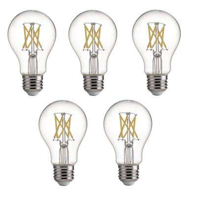 75-Watt Equivalent E26 A19 LED Dimmable Light Bulb Daylight (5-Pack)