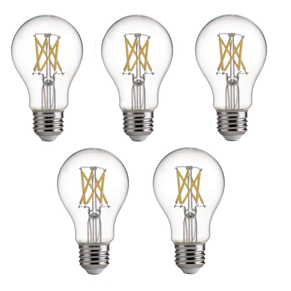 75-Watt Equivalent E26 A19 LED Dimmable Light Bulb Daylight (5-Pack)