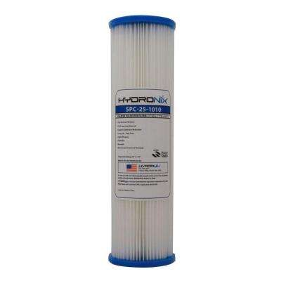 SPC-25-1010 2.5 in. x 9-3/4 in. 10 Micron Polyester Pleated Filter