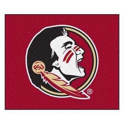 NCAA Florida State University Red 5 ft. x 6 ft. Indoor/Outdoor Tailgater Area Rug