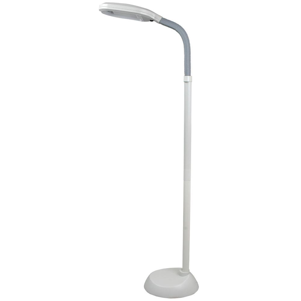 Buckingham Home 60 in. White Indoor Sunlight Floor Lamp