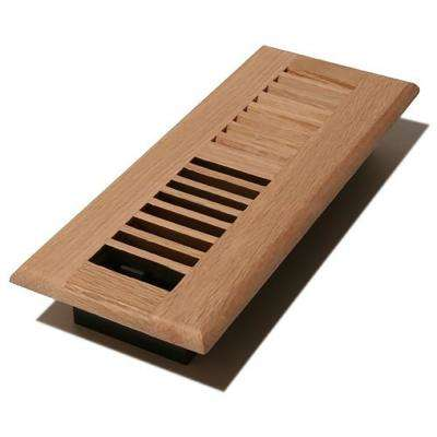 3 in. x 10 in. Unfinished Oak Louvered Register