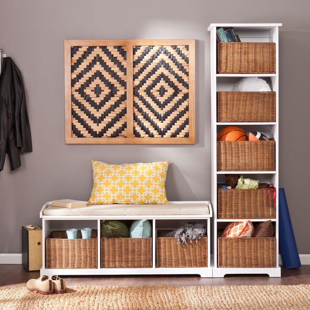 Southern Enterprises Julius White Storage Furniture