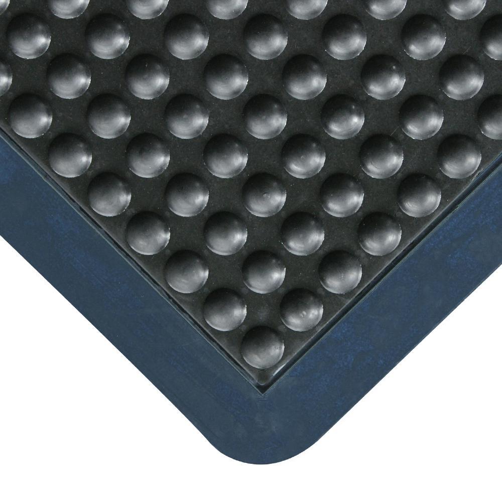 Bubble-Top 5/8 in. x 24 in. x 36 in. Anti-Fatigue Floor Mat Black Borders