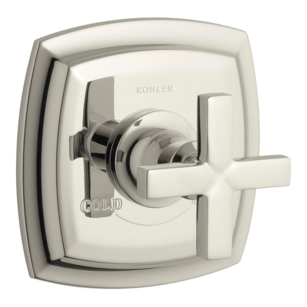 Margaux 1-Handle Thermostatic Valve Trim Kit in Vibrant Polished Nickel with