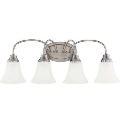Holman 4-Light Brushed Nickel Vanity Light